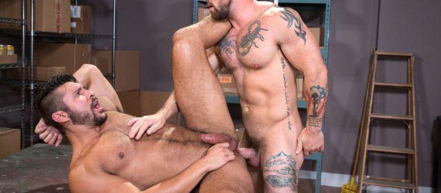 Seth Santoro and Sergeant Miles
