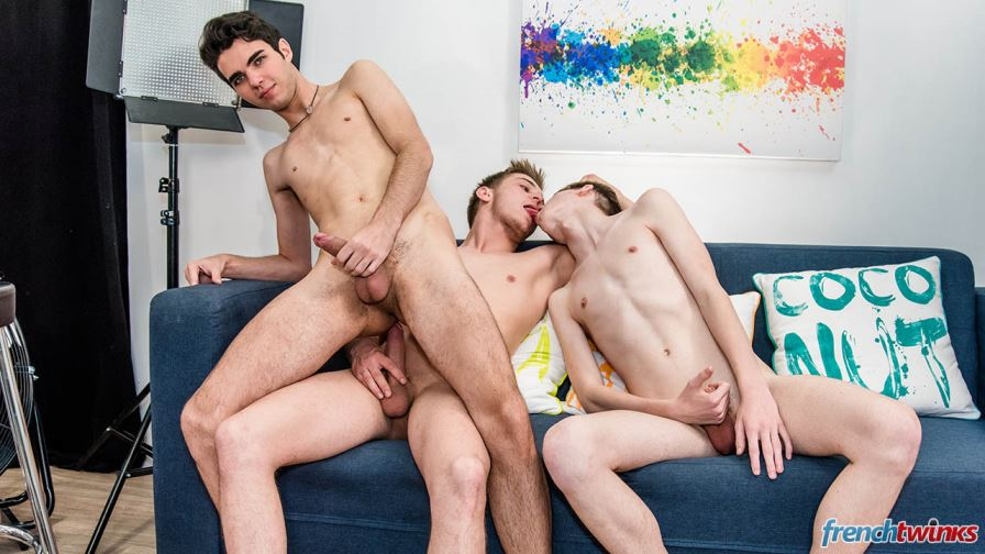 Enzo Lemercier, Celian Meyer and Thomas Leconte