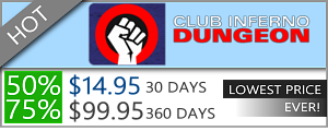 Club Inferno Dungeon - 50% discount off
