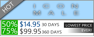 Icon Male Discount - $14.95 for 30 days