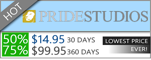 Pride Studios Discount - $14.95 for 30 days!