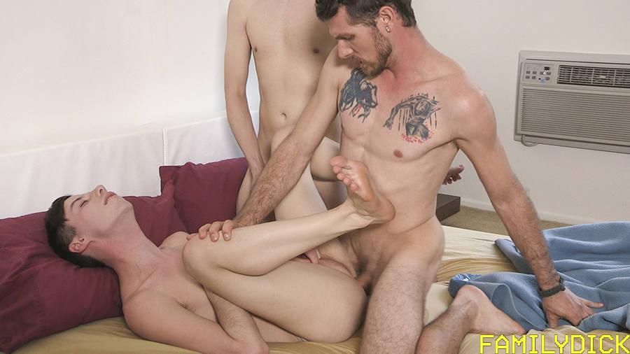 Family Dick: The Bareback Threesome