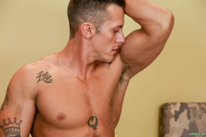 Nicholas Sykes Jerks Off For Active Duty 2