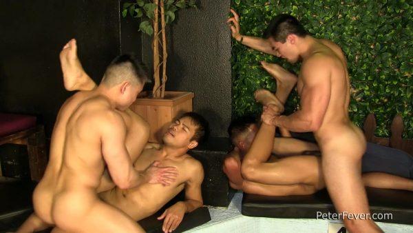 John Rene, Axel Kane, Alec Cruz and Jessie Lee for Peter Fever 3