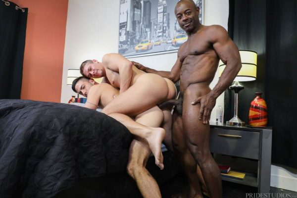 Cesar Rossi, Aston Springs and Aaron Trainer for Pride Studios 4