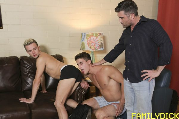 Logan Cross, Lance Hart and Zane for Family Dick 2