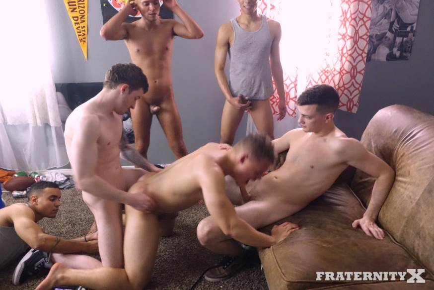 Fraternity X: Five cocks in one hole 1