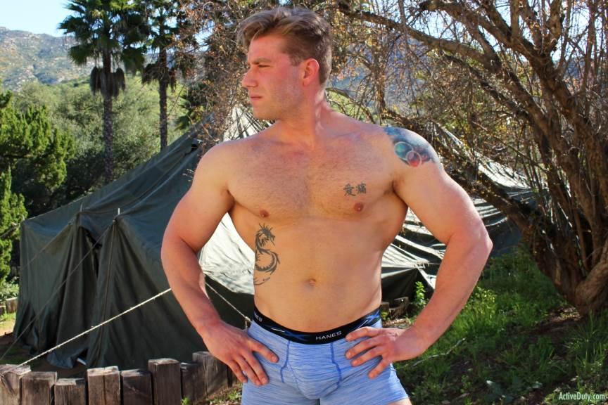 John Hawkins Jerks Off for Active Duty 4