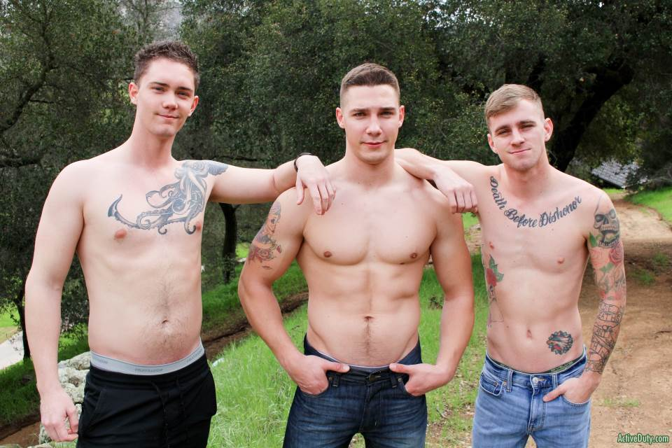 Ryan Jordan, Spencer Laval and Logan Lane for Active Duty