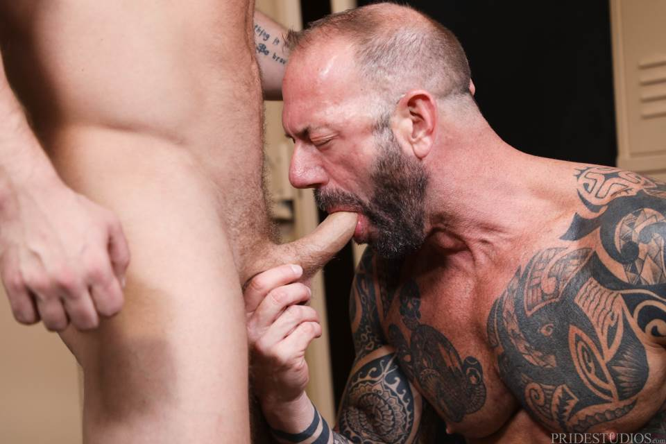Vic Rocco fucks Riley Mitchell bareback for Pride Studios