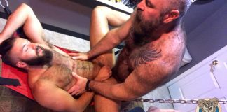 Muscle Bear Porn: Fucking Trans Stud 1