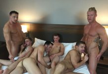 American Muscle Hunks: 6 Guys Orgy 1