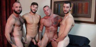 Bareback That Hole: Four Men Orgy 1