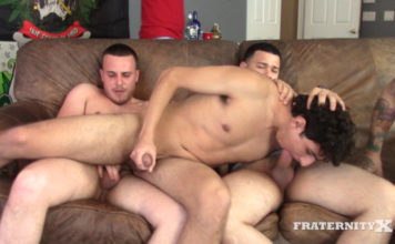 Fraternity X: Carter's First Bareback Orgy 1