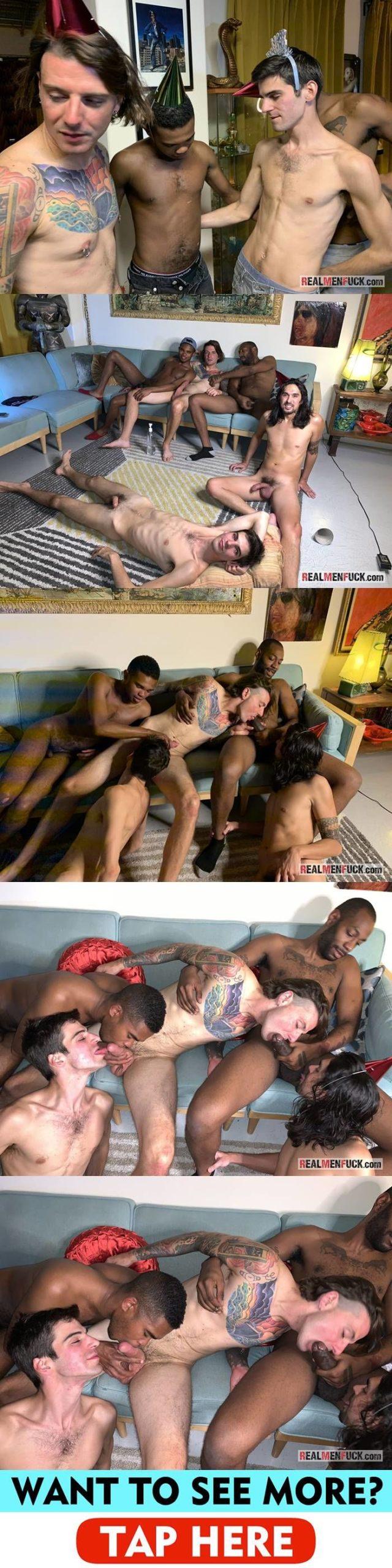 Real Men Fuck: Birthday Orgy - Part 1