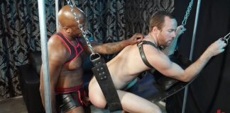 Leather Master Micah Martinez Uses Alex Hawk - KinkMen 1