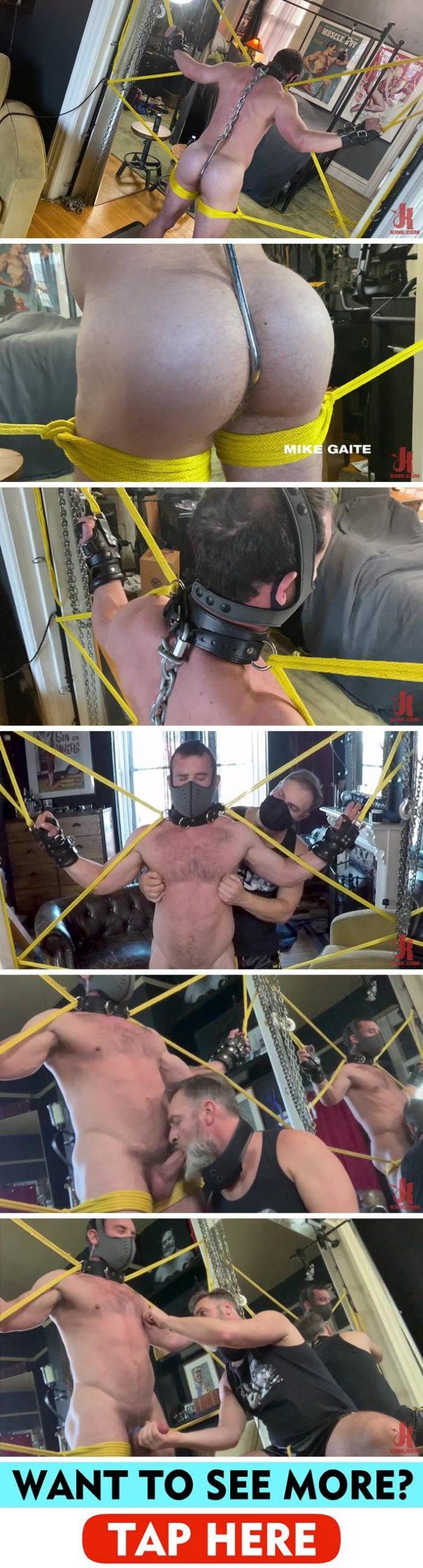 Kristofer Weston Edges Mike Gaite In Rope Bondage 1