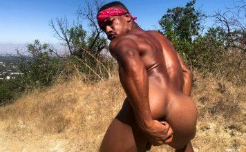 Adrian Hart - Outdoor Dildo Solo 1