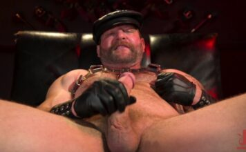 Kinkmen: Leather Daddy Colby Jansen Jerks Off 1