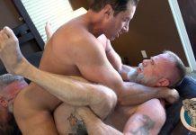Muscle Bear Porn: Nick Capra, Will Angell & Liam Angell 1