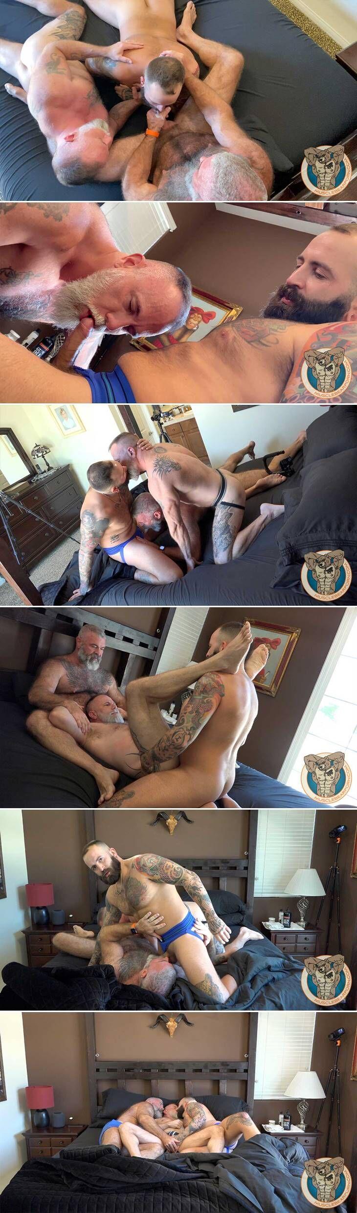 Muscle Bear Porn: Threesome with Zander Fierro