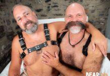 Leather Gay Bears Doctor Nick & Devan Roy Fuck Raw