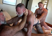 Muscle Bear Porn: Rick Kelson, Will Angell & Liam Angell 1