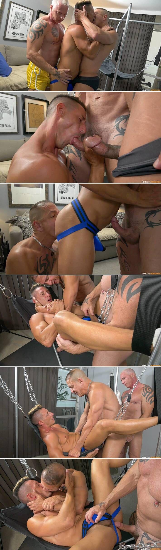 Ryan Carter & Digger Dominate Jax Thirio In Bareback Threesome